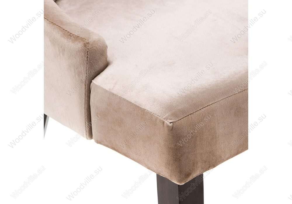 Стул Elegance dark walnut / fabric beige