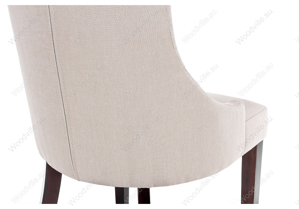 Стул Elegance dark walnut / fabric cream