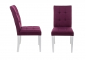 Стул Madina white / fabric purple